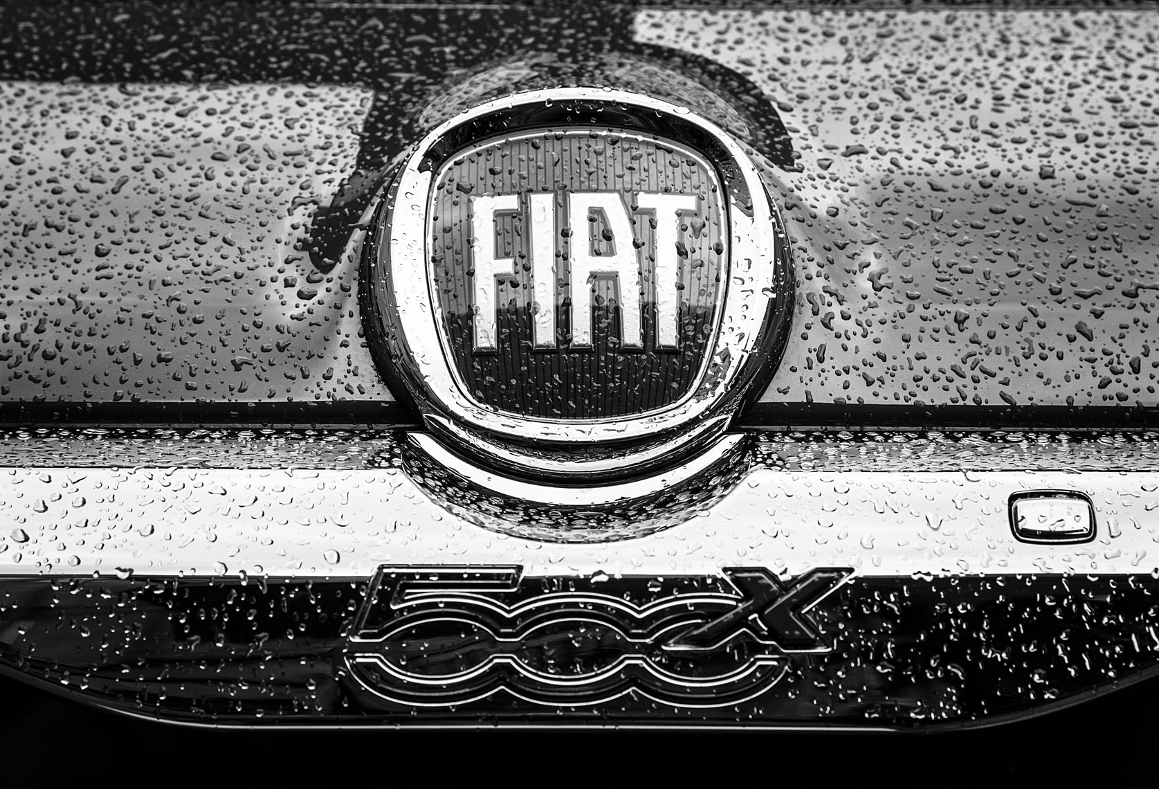 Christopher Nelson Photography|Fiat 500x|Seattle|Logo|B&W