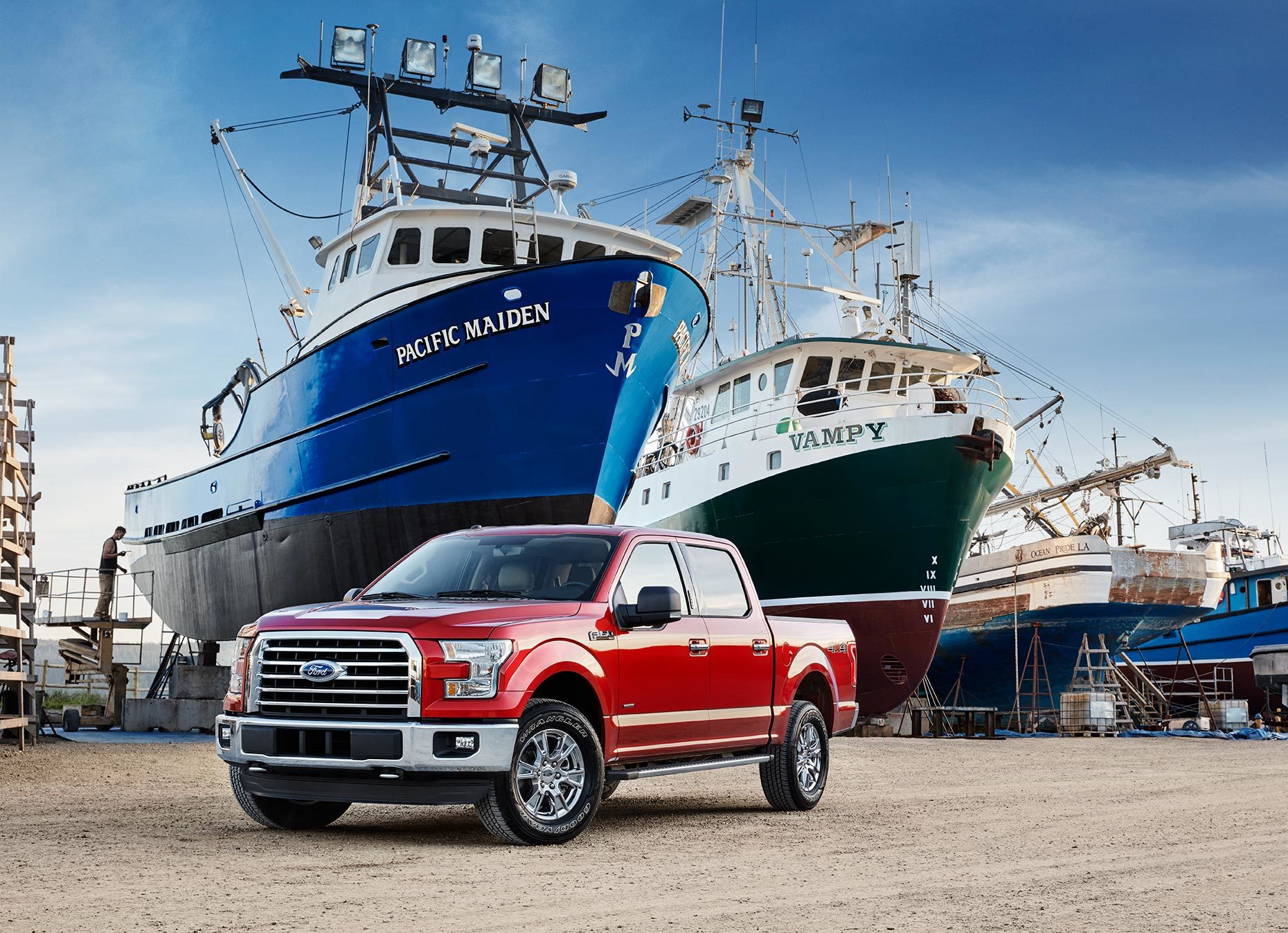 Christopher Nelson Photography|Ford 150|Red|Shipyard