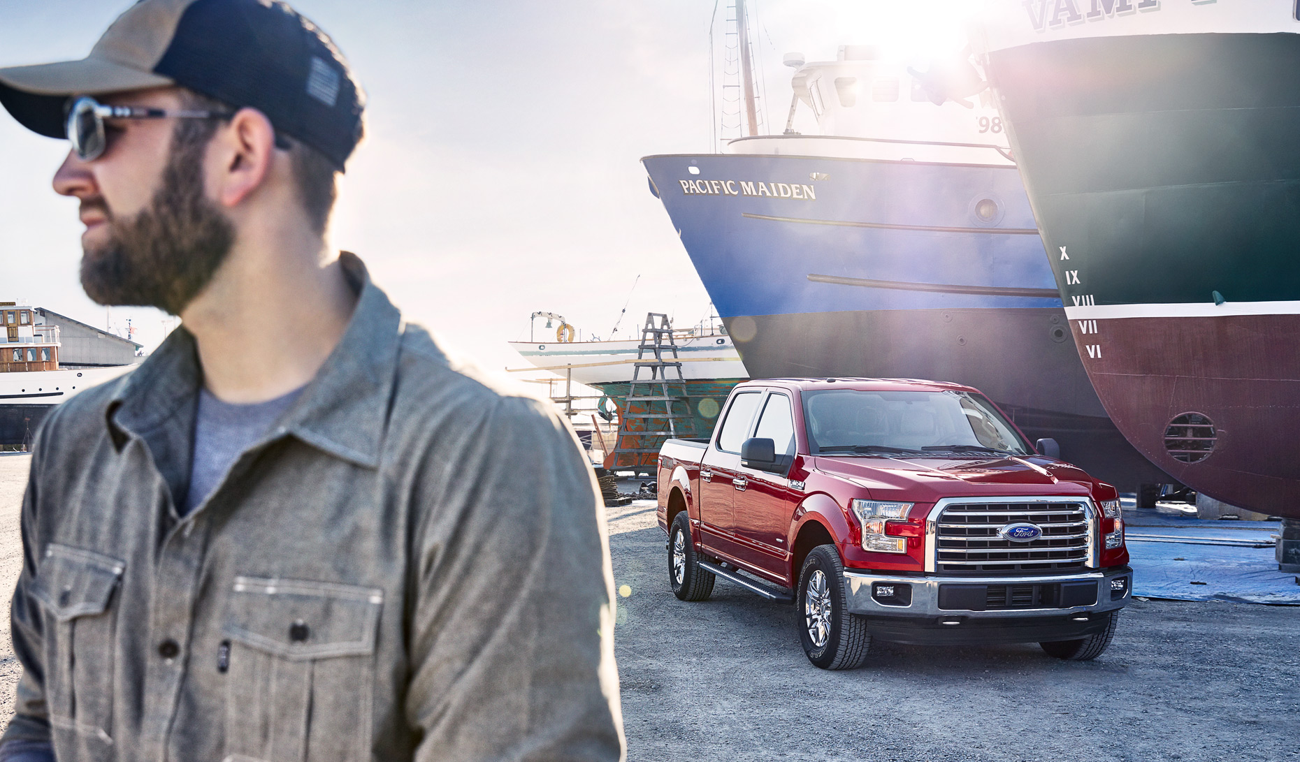 Christopher Nelson Photography|FordF150|Red|Ship Yard|Lifestyle
