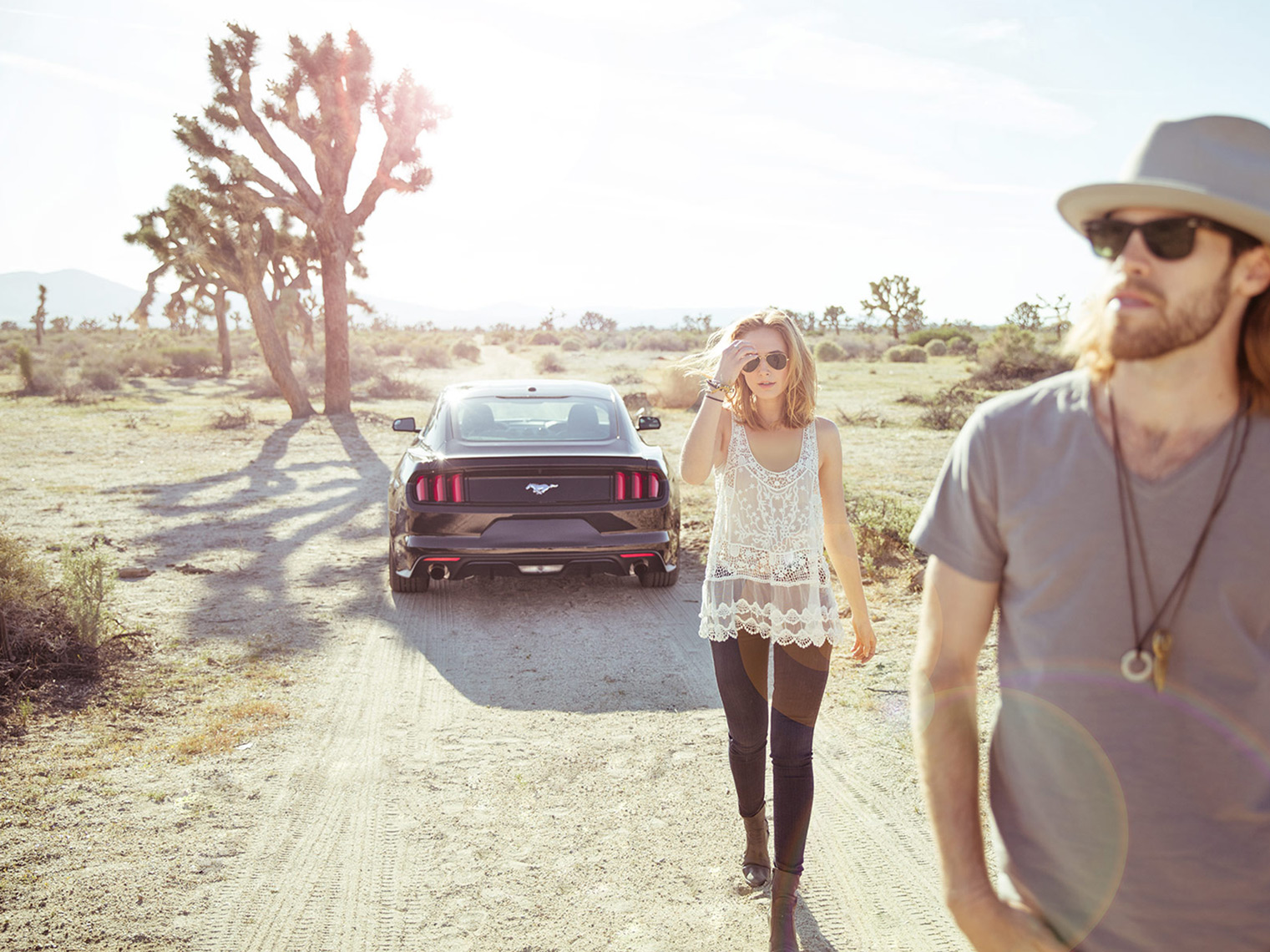 Christopher Nelson Photography|Ford Black Mustang|Desert
